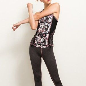 Front floral print athletic set